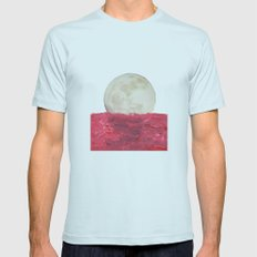 moonrise Mens Fitted Tee Light Blue SMALL