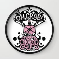 Oh Crab! (patterned) Wall Clock