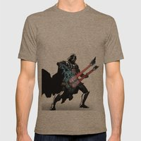 Darth Vader Force Guitar… Mens Fitted Tee Tri-Coffee SMALL