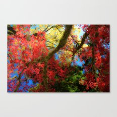 Fall Colors at Crescent Lake Lodge, 2 Canvas Print