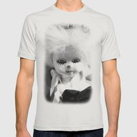 Dolls in Grandma's attic, Photo Mens Fitted Tee Silver SMALL