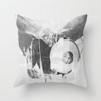 When B, grey Throw Pillow
