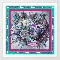 Manchester whirl Art Print