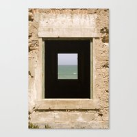 Framing The Sea Canvas Print