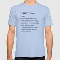 Dance Mens Fitted Tee Athletic Blue SMALL