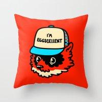 Eggscellent Throw Pillow