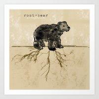 ROOT-BEAR Art Print