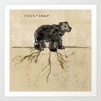 ROOT-BEAR Art Print