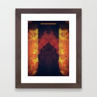 ANCIENT RED AND GOLD Framed Art Print