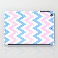 Blue Pink Chevron Patter… iPad Case
