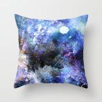 Winter Night Orchard Throw Pillow