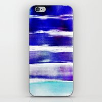 waves - indigo iPhone & iPod Skin
