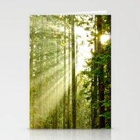 A Light Peeks Through Stationery Cards