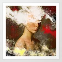 The Woman Without Look Art Print