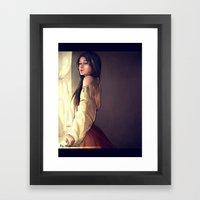 Women in the window Framed Art Print