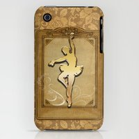 iPhone 3Gs & iPhone 3G Cases featuring Golden ballerina by nicky2342
