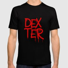 word: Dexter Mens Fitted Tee SMALL Black