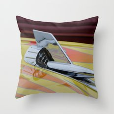 Rocket with Pinstripes Throw Pillow
