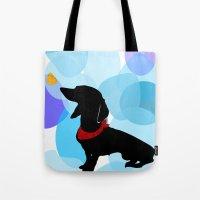 Dachshund Dog Art Print Tote Bag