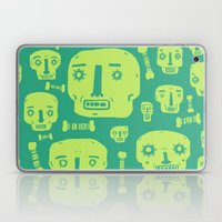 Skulls & Bones I - Green Laptop & iPad Skin