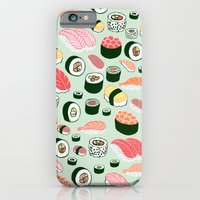iPhone Cases featuring Sushi Love by Kristin Nohe