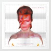 Bowie : Aladdin Sane Pix… Art Print