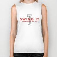Swing It - Zombie Surviv… Biker Tank