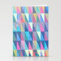 Candy Triangles Stationery Cards