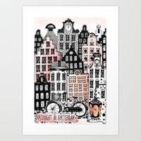 Midnight in Amsterdam  Art Print
