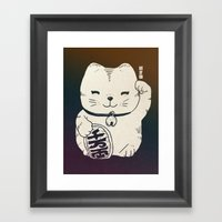 FORTUNE CAT Framed Art Print