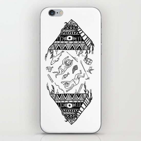 On how the mystical levitation of divers are induced by floating pyramids iPhone & iPod Skin