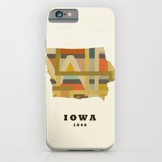Iowa state map modern iPhone 6 Slim Case
