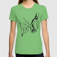 HOLDING HANDS Womens Fitted Tee Grass SMALL