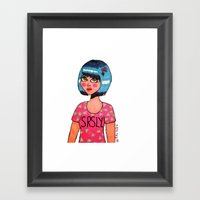 SRSLY. Framed Art Print