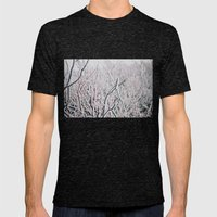 Winter Snow  Mens Fitted Tee Tri-Black SMALL