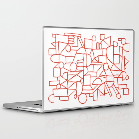 Rad lines Laptop & iPad Skin
