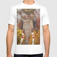 Gilded Elephant Of Jaipu… Mens Fitted Tee White SMALL