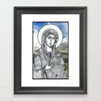 Madonna Of The Skies Framed Art Print