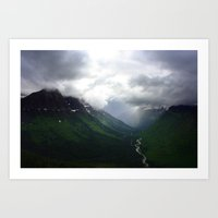 Mystic Mountains Art Print