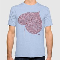 Autumn Leaf Mens Fitted Tee Athletic Blue SMALL