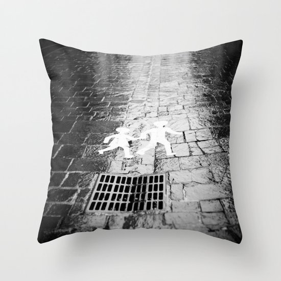 Crosswalk, Brittany, France Throw Pillow