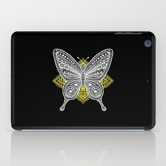 The Butterfly Watercolor Illustration on Tablet Case by Haidi Shabrina
