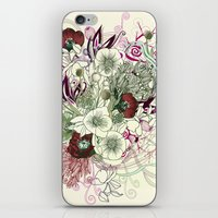 Zentangle Floral mix II iPhone & iPod Skin
