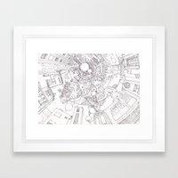 The Underground City Framed Art Print