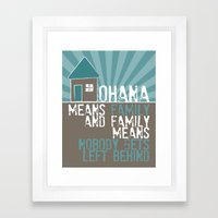 Ohana Means Family - Lilo & Stitch Framed Art Print