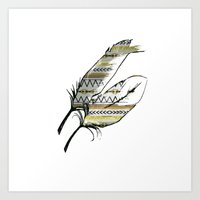 Tribal Feather Sunshine Art Print