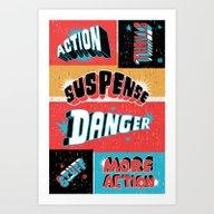 The Movies Art Print