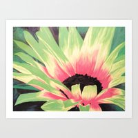 Bursting Bloom Art Print