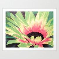Bursting Bloom Art Print