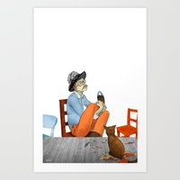 Spotted Crow Takes His Medicine Art Print